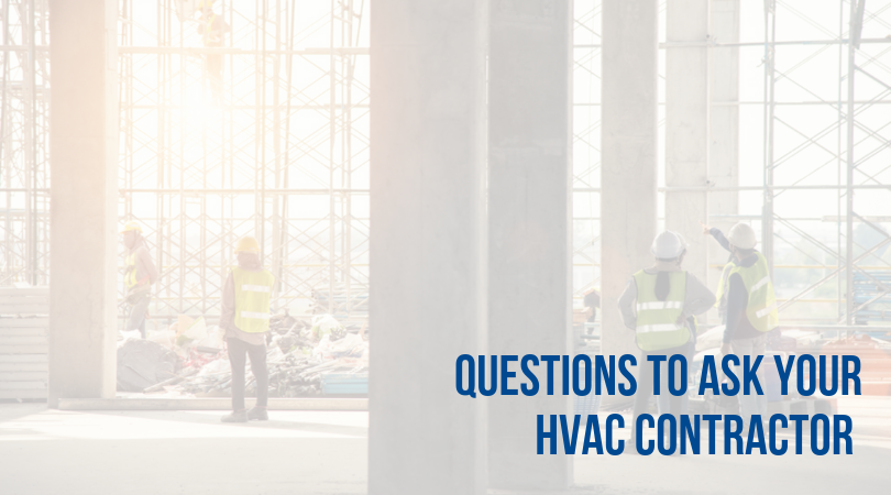 questions to ask your commercial hvac contractor company